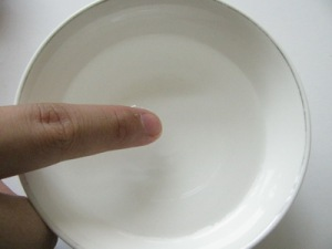 10. Dip some water with your fingertip